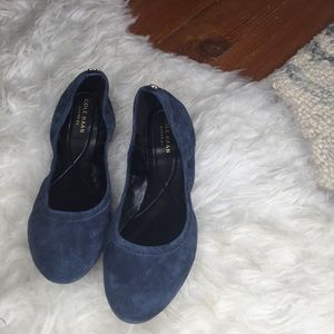 Cole Haan Blue Suede Comfortable Flats